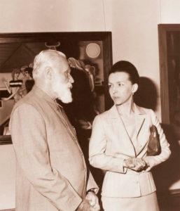 Святослав Николаевич Рерих и Людмила Живкова на выставке в Болгарии. София, 1978