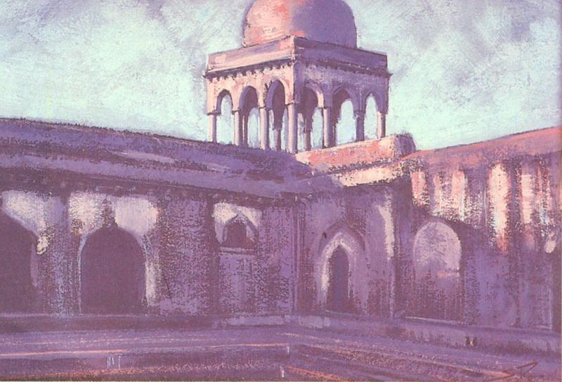 Картина Святослава Рериха. Манду. 1944