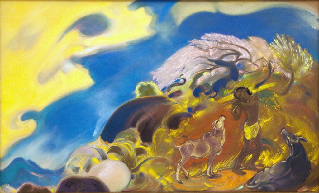 Картина Святослава Рериха. Весна (Священная флейта) 1953