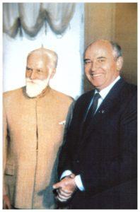 С.Н.Рерих и М.С.Горбачев. Москва. 1987 г.