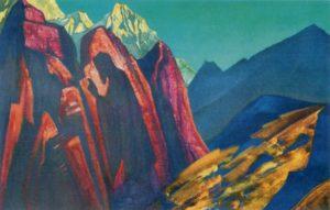 Картина Н.К.Рериха. Его Тень. [Тень Учителя. Тибет] 1932
