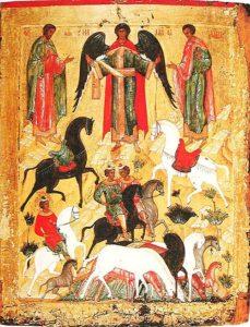 Чудо о Флоре и Лавре (новгородская икона, конец XV века)