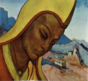 Картина Н.К.Рериха, Лама Тибета (Тибетский Лама) 1927