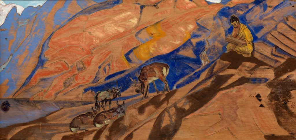 Картина Н.К.Рериха. Заветы Учителя (Заветы учителя). 1927