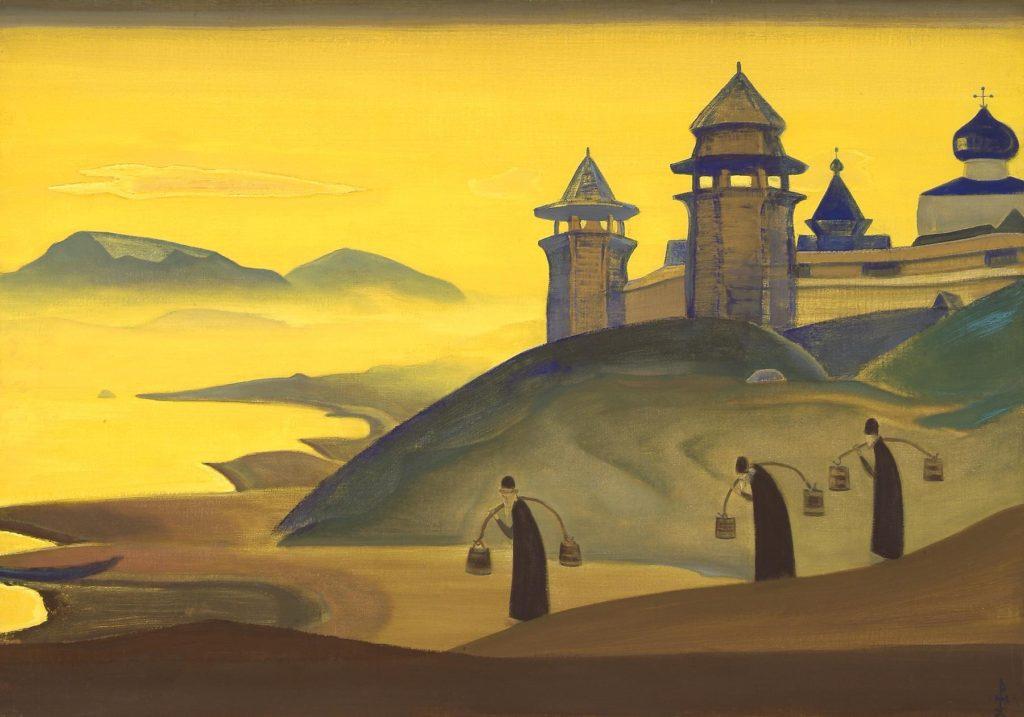 Картина Н.К.Рериха. И труждаемся [И мы трудимся] 1922