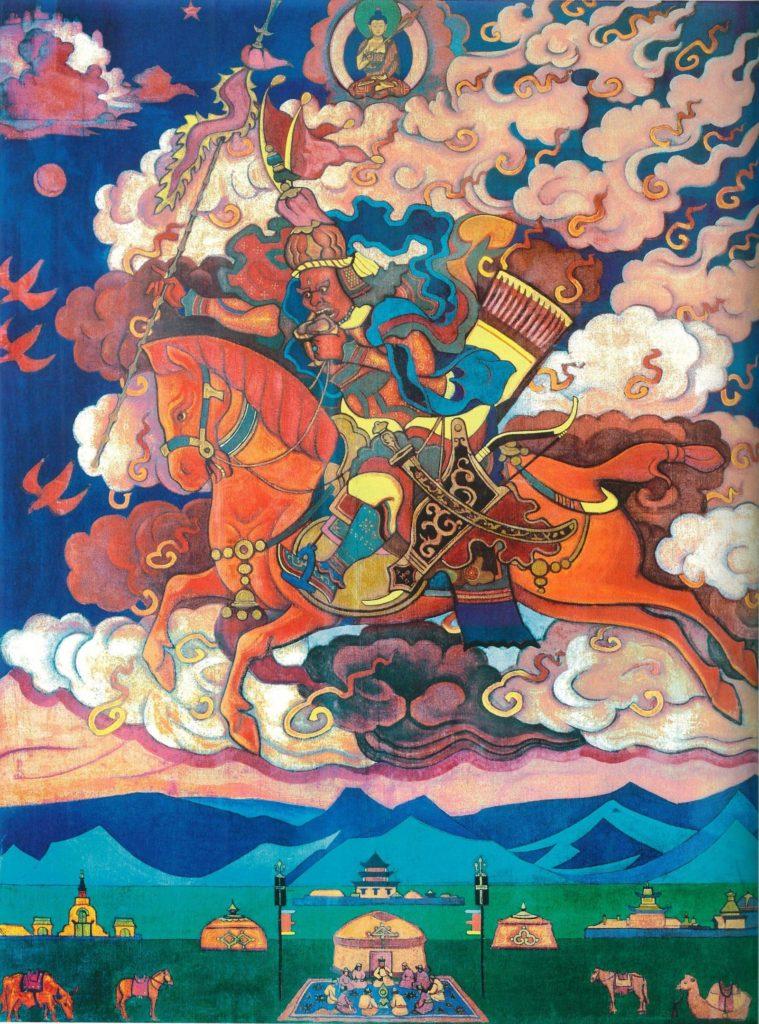 Картина Н.К.Рериха. Ригден-Джапо - Владыка Шамбалы (Великий всадник, Грядущее) 1927