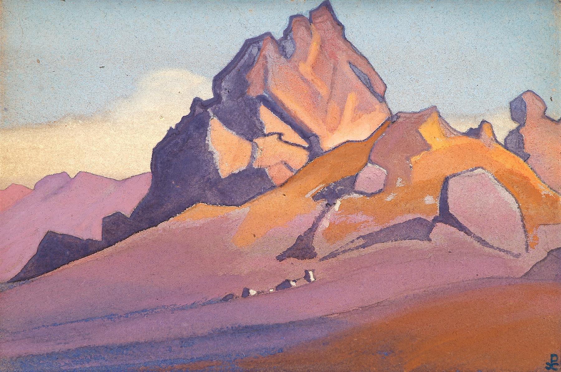 Картина Н.К.Рериха. Тимур Хада, стоянка экспедиции. [Тимур Хада] 1936