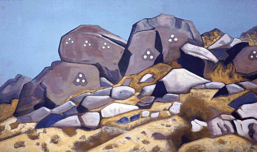 Картина Н.К.Рериха. Шара-Мурен. [Тибет] 1935-1936