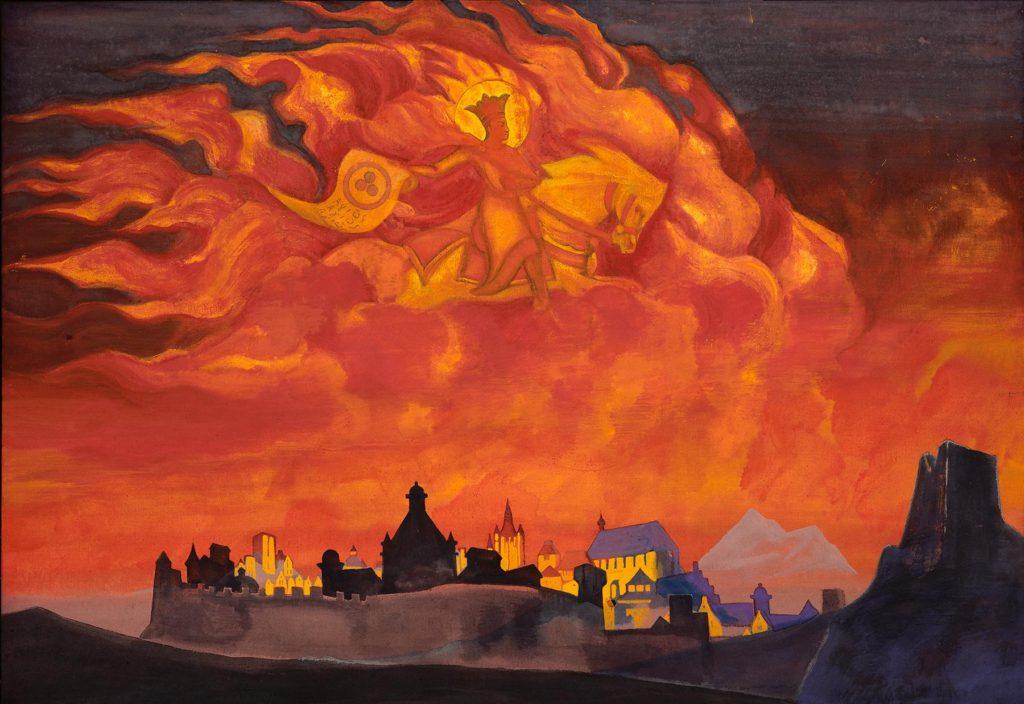 Картина Н.К.Рериха. София-Премудрость. 1932